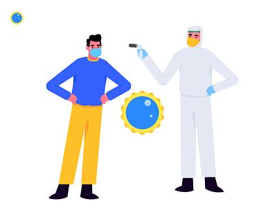 Virus | Stay Safe website app mobile character vector graphic ui illustration pandemic doctor virus