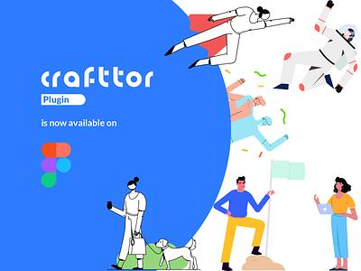 Crafttor | Figma Plugin plugin figmadesign figma app website mobile design animation vector character graphic ui illustration