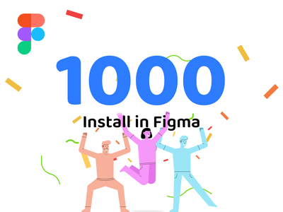 1K Installs in Figma icon mobile design character vector graphic ui illustration