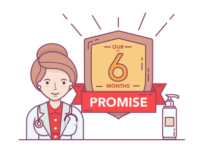 Skin Care Product Illustration promise illustration lady product doctor skin care