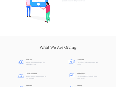 Landing Page isometric character woman man icon mobile app skecthapp illustration ui website landing page