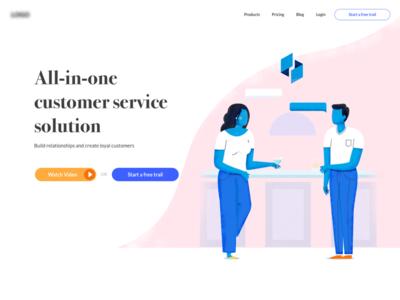 Landing Page (WIP) character graphic ux ui illustration website desktop landing page