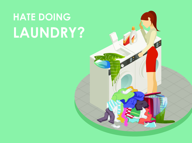 Laundry Mobile App UI UX Storyboard Illustrations Frame 1