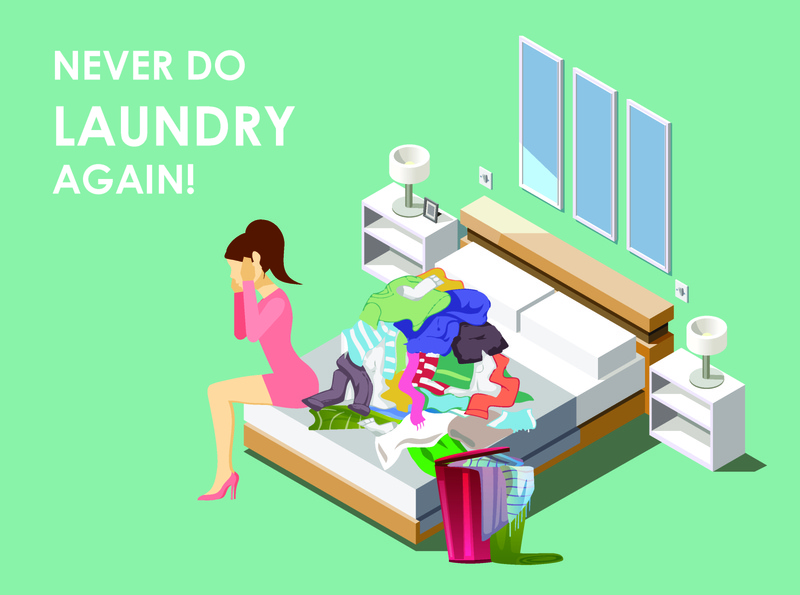 Laundry Mobile App UI UX Storyboard Illustrations Frame no 2