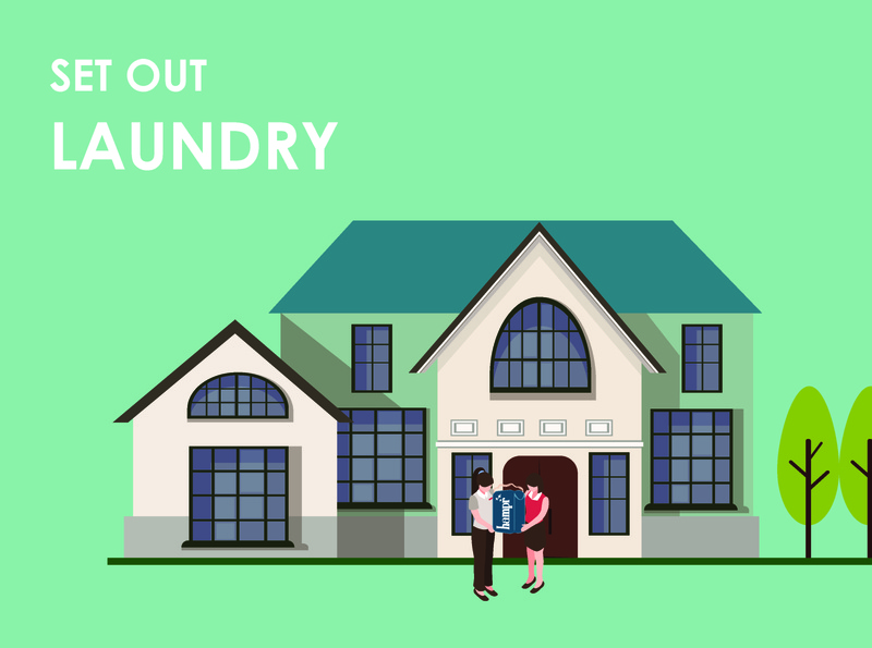 Laundry Mobile App UI UX Storyboard Illustrations Frame 4