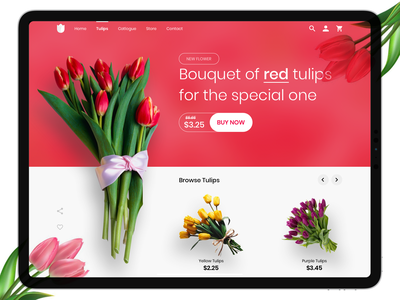 Tulips sexy ui visual design design artistic impression sketch app sketch homepage