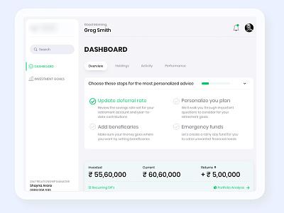 Finserv minimalistic simple modern ui user flow user interface design user experience sketch