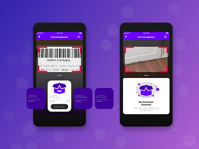 Scan Consignment App design visual design ui sketch app minimalist simple native ios app ios consignment scan