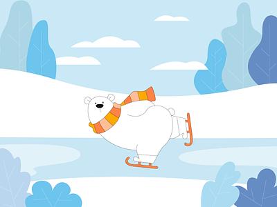 Polar Bear Illustration winter love design cover clean snow polarbear bear vanilla ice cream colors art illustration illustrator packaging illustration packaging design packaging