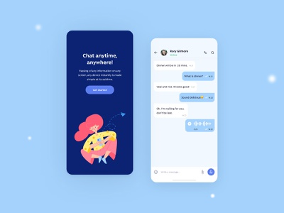 Direct Messaging creative minimal mobile app illustration messanger inbox simple app concept mobile design ui ux page network social messaging message chatbox chat
