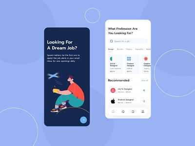 Job Finder ux website hiring platform finder app design mobile app mobile design application app job application job listing job finder job minimalist design ui design uiux design