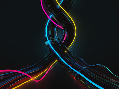 WIRES. Opening credits print illustration opening titles glow after effects c4d 3d animation motion motiongraphic motion design wires