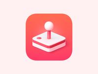 Apple Arcade Icon skeuomorphism neomorphism joystick ios game arcade 3d big sur macos apple icon