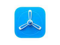 TestFlight Icon airscrew propeller neomorphism skeuomorphism ios big sur icon testflight apple 3d