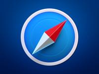 Safari Icon pointer compass browser 3d safari skeuomorphism neomorphism big sur macos apple icon ios