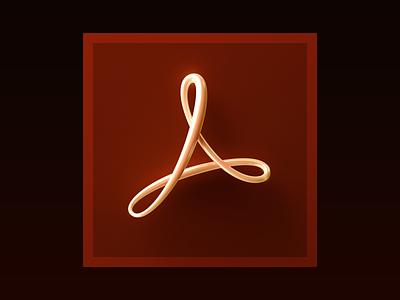 Adobe Acrobat Icon logo acrobat adobe skeuomorphism neumorphism macos ios icon big sur apple 3d