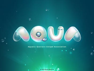 AQUA Logo game rpg ios aqua logo water glass plastic chromium bubble