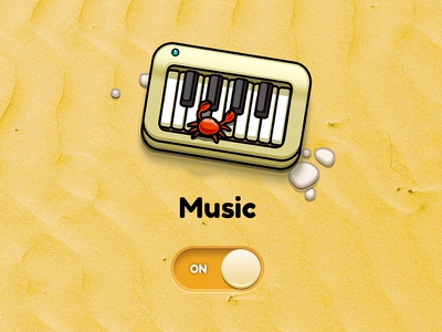 Settings: Music ipad game kid crab piano music ios sand settings switch