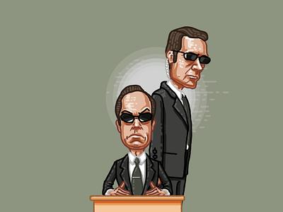 Agents agent smith matrix sketch illustration