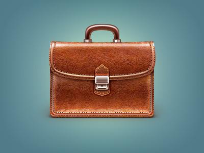 Briefcase briefcase business leather elegance richness seam