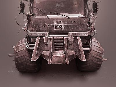 MyTaxi Truck uzbekistan klaxon post-apocalyptic pipe bomb bumper wheel retouch mad max truck mytaxi