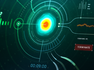 HUD Experiments. Part 1 ui interface animation scifi motiondesign motion aftereffects ae c4d hud