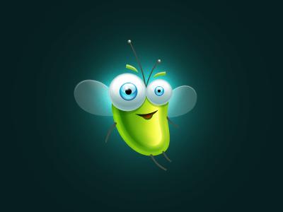 Beetle beetle character ios light eyes wings feeler antenna