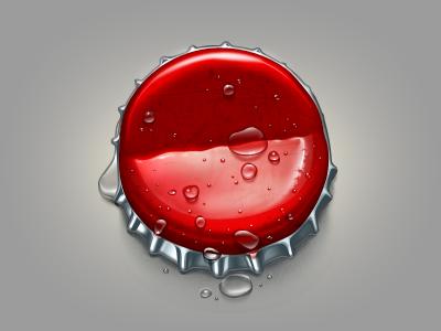 The Cap bottle cap red metal tin-plate water drop sprinkle bend