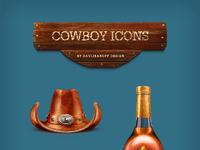 Freebie cowboy icons by davlikanoff