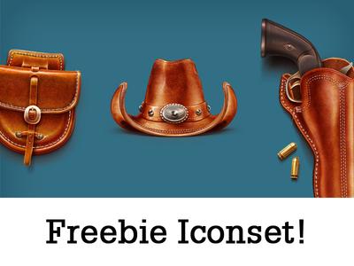 Freebie Cowboy Iconset