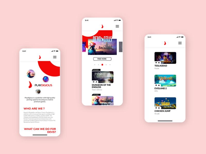 Playdigious Webdesign Concept - Responsive