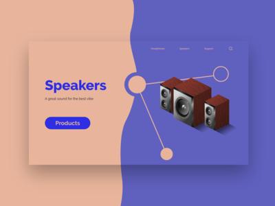 Speakers Webdesign Concept webdesign concept isometric isometric art isometric design flat design web design uiux website webdesign web ux ui design ui concept design
