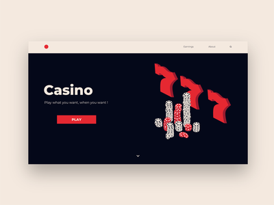 Casino Webdesign Concept casino concept casino design casino isometric design isometric isometric art flat design web design uiux website webdesign web ux ui design ui concept design