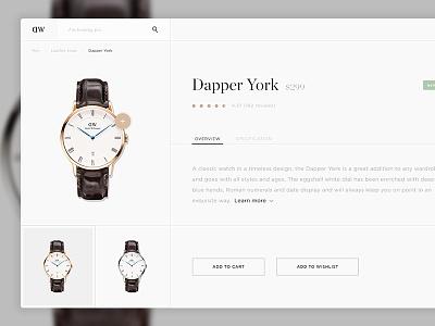 Daniel Wellington App gold minimal clean watch ui application app
