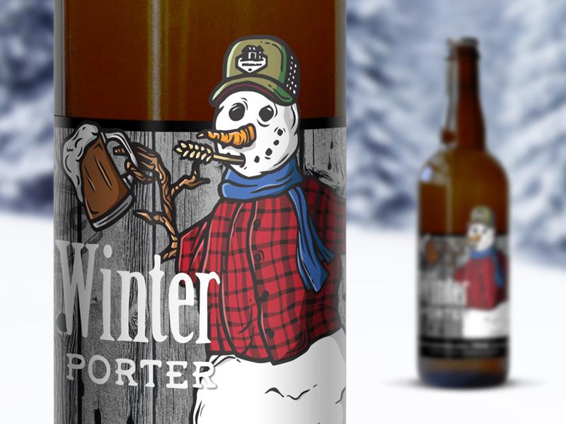 Winter porter beer label
