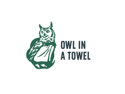 Owl in a Towel branding tree nature modern illustration brand identity cosmetics owl logo design