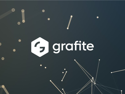 Grafite Logo space badge g monogram hexagon tech modern wordmark logotype logo developer graphite