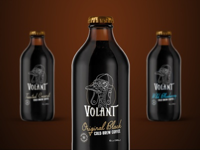 Volant Cold Brew Coffee personality script coffee shop series product design cold brew packaging package design coffee