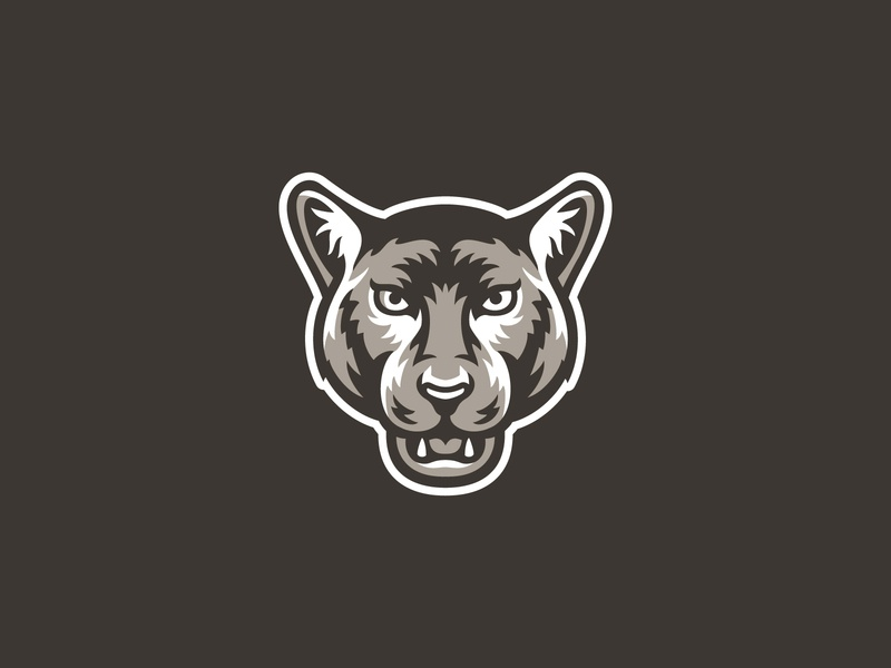 Merritt North Panther Mascot school logo college animal icon cougar panther illustration character design mascot logo mascot