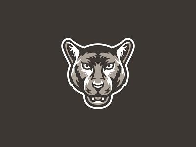Merritt North Panther Mascot school logo college animal icon cougar panther illustration character design mascot logo mascot