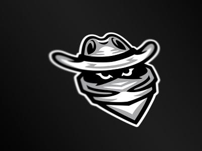 Arthur Bishop House Bandit Mascot cowboy robber illustration western icon logo character design mascot design bandit