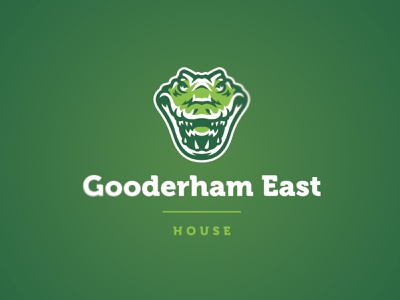 Gooderham House Crocodile logo design logo school house illustration alligator icon character mascot design crocodile