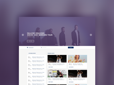 Event Landing Page cards event discovery landing web design white label ui ux web