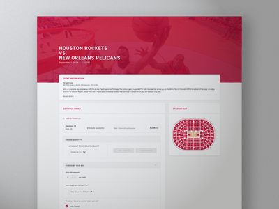 Event Checkout tickets basketball sports responsive event discovery checkout web design white label ui ux web