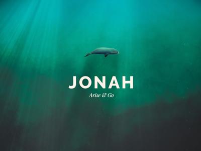 Jonah Sermon Series Graphic  waves watercolor water under water sermon series ocean jonah brush photoshop bible type