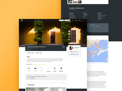 Listing Page web design web ux ui responsive landing housing house discovery clean