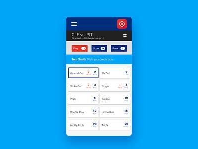Micro Fantasy Gameplay design material responsive app mobile game sports fantasy ui ux