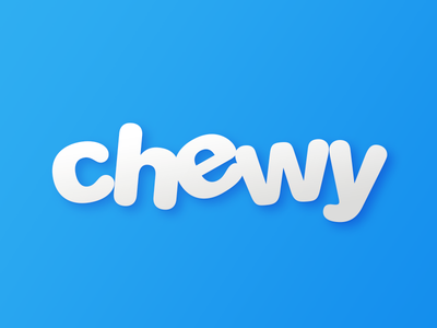 I Work For Chewy! pet florida move team logo gradient creative in house design branding