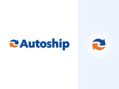 Autoship Branding Refresh typography clean ship. modern auto chewy arrows logo type branding