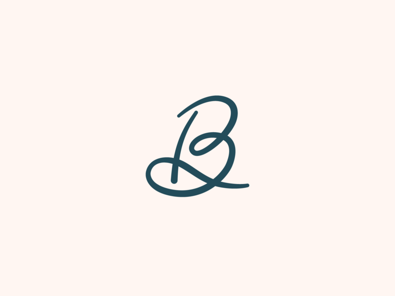'B' Logo #1 lettering custom script b monogram brand graphic design identity simple icons flat vector logo design branding